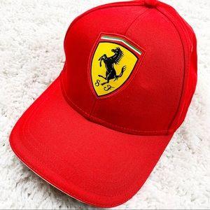 😄 Ferrari Red baseball cap with logo Adjustable